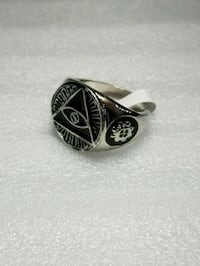 New Stainless Steel All Seeing Eye Pyramid Ring San Marcos, 78666