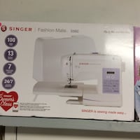 white Singer electric sewing machine box Merced, 95341