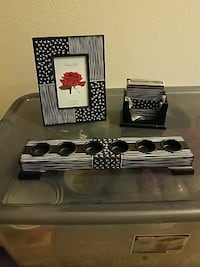 black and white photo frame and candle holder Owings Mills, 21117