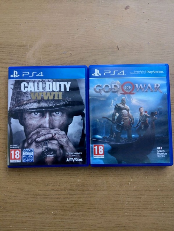Call of Duty WWII, God of War ...PS4 games
