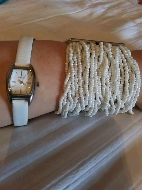 Relic watch and Beaded Bracelet