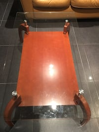 Coffee table wood and glass Laval