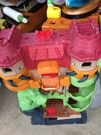 red, yellow, and green plastic castle toy Alexandria, 22311