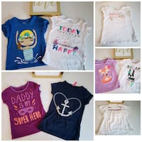 Lot of Girl Shirts in Size 4T Reading, 19606