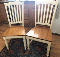 2 hardwood dining chairs in Windsor, CT