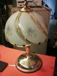 brass and white table lamp Cedar Falls