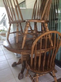 brown wooden windsor chair set North Fort Myers, 33903