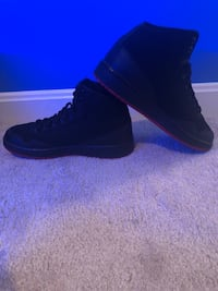 unpaired black leather high-top sneaker Bristow, 20136