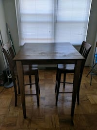 Bar Height Dining Table + 2 Chairs