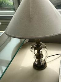 White and Gold table Lamp with Crystal design LONDON