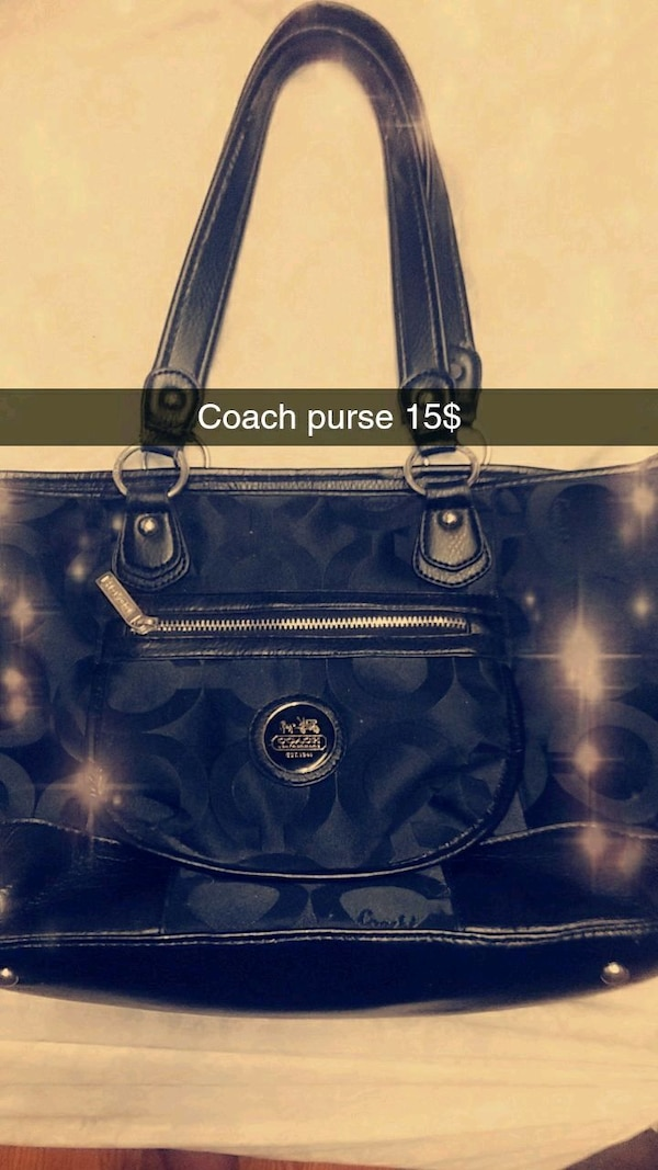 031b983c453b Used blue Coach leather tote bag for sale in Wolfe City - letgo