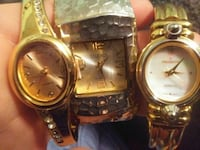 round gold analog watch with gold link bracelet Tonopah, 89049