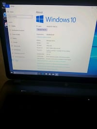Laptop HP versión 1703 Edition Windows 10 pro OS Build 15063.296