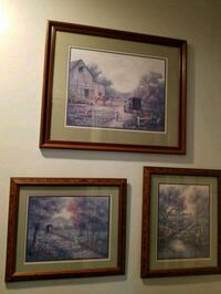 two brown wooden framed painting of house South Gate, 90280