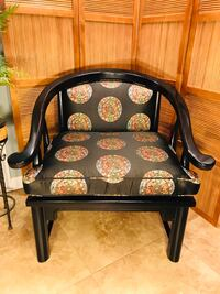 Mid Century Modern - James Mont Horseshoe Ming Style Lounge Arm Chair