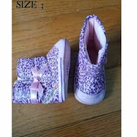 toddler's size 3 purple-and-beige bow accent winter boots Bronx, 10471
