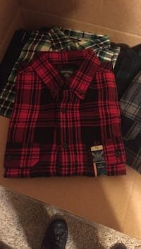 several button-down tops