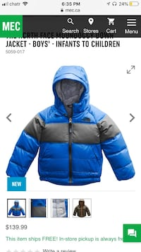 Toddler Northface Jacket  Burnaby, V5E 1R7