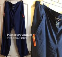 Polo sport vintage track pants size small 29-33 New Westminster, V3M 1B9
