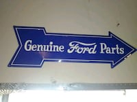 Metal ford sign 34 km