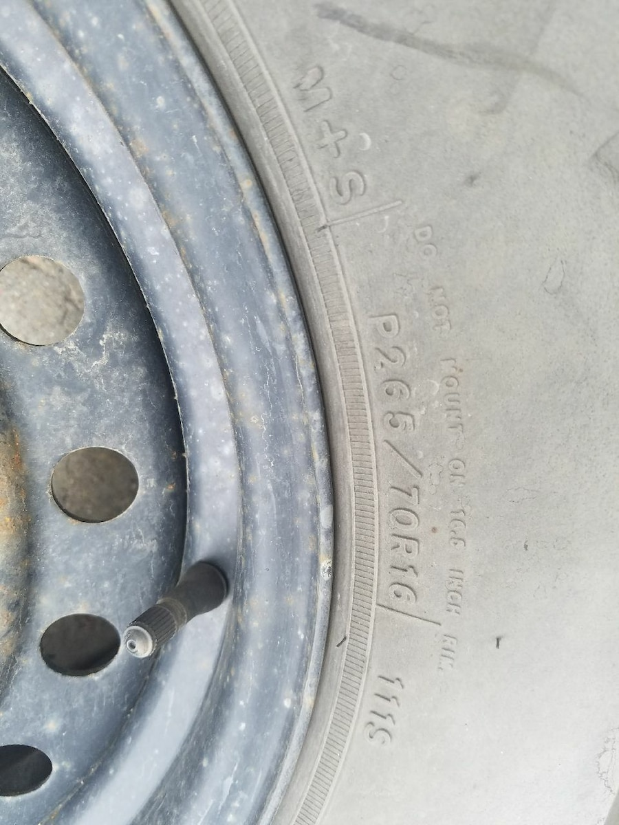 1 spare tire size 265/70/16 - United States