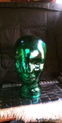 Green Glass Head Great for Hats Vancouver