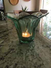 Recycled Glass Candle Holder