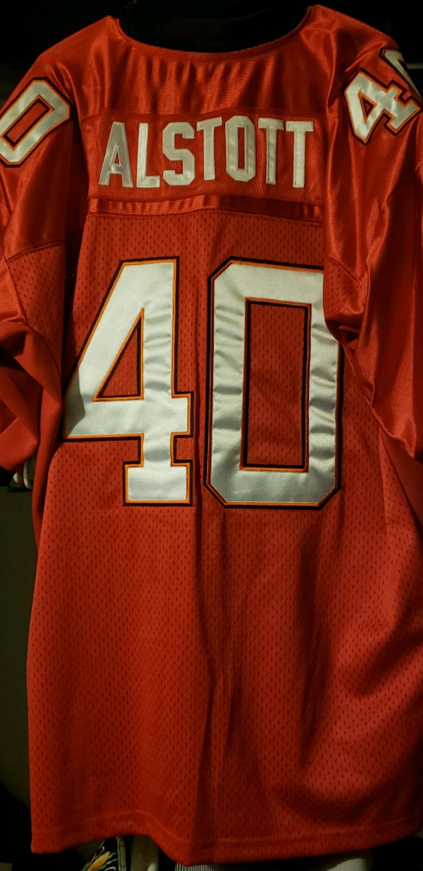 sports shoes 5a827 fb81b Tampa Bay Buccaneers Mike Alstott Jersey