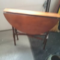 brown wooden drop leaf table Rochester, 14606