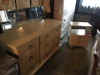 brown wooden dresser with mirror Daly City, 94015
