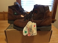 Pair of brown timberland work boots Hamilton, L8M 2Y4