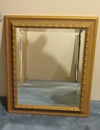 Ornate Embossed Gold Beveled Mirror To Hang On the Wall Notre-Dame-de-l'Île-Perrot