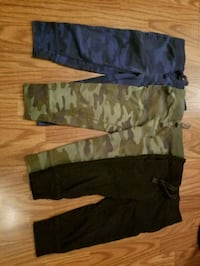 two black and one gray pants Langley, V3A