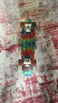 Used Tie-Dye Penny Board with red and black Grip Tape Fairfield, 06825