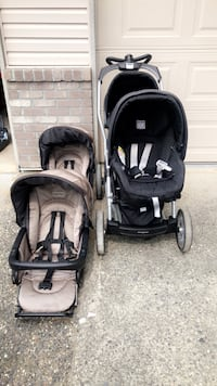 baby's black and gray travel system Pitt Meadows, V3Y 2P1