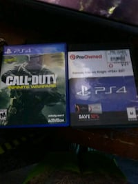 two Sony PS4 game cases Williamston, 29697