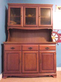 brown wooden cabinet with shelf Calgary, T3E 2L6