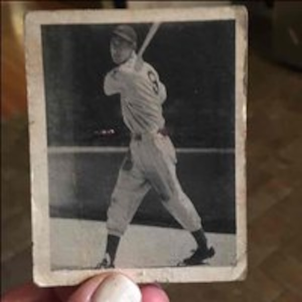 Authentic Ted Williams baseball card
