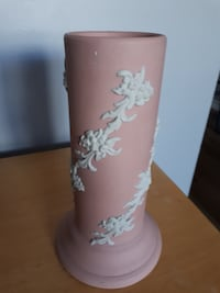 Vintage Ecanada Art Pottery Pink Vase with Wedgwood-Like Finish Made in Canada Floral Guelph