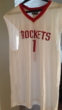 White and red rockets 1 tracy mcgrady basketball jersey Foster City, 94404