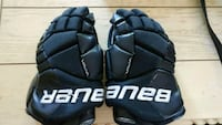 pair of black-and-white Bauer gloves Toronto, M9C 4A9