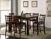 7 pc Counter Height Set 6 bar stools counter table Houston, 77036