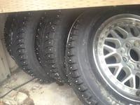 GOOD YEAR WINTER TIRES WITH RIMS null