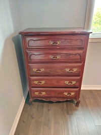 SOLID WOOD 5 DRAWER CHEST