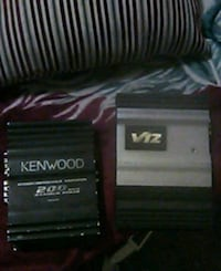 Kenwood 200wt amp & v-12 bass amp Stockton, 95205