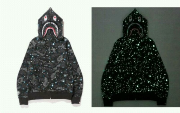 Galaxy zip-up bape hoodie