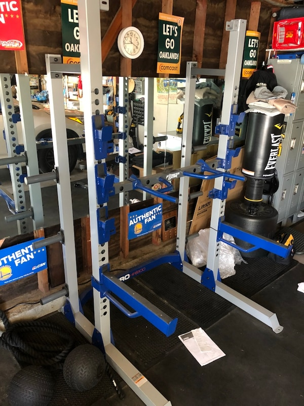 Used half rack for olympic weights msrp $350 for sale in san jose