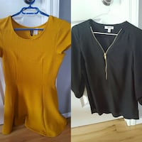 yellow scoop neck dress and black v-neck top Calgary, T3C 0A1
