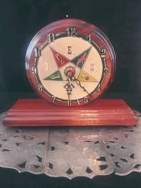 Rare Order of the Eastern Star Mantle Clock