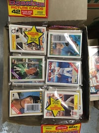 Baseball card rack pack box of vintage  trading cards Fountain Valley, 92708